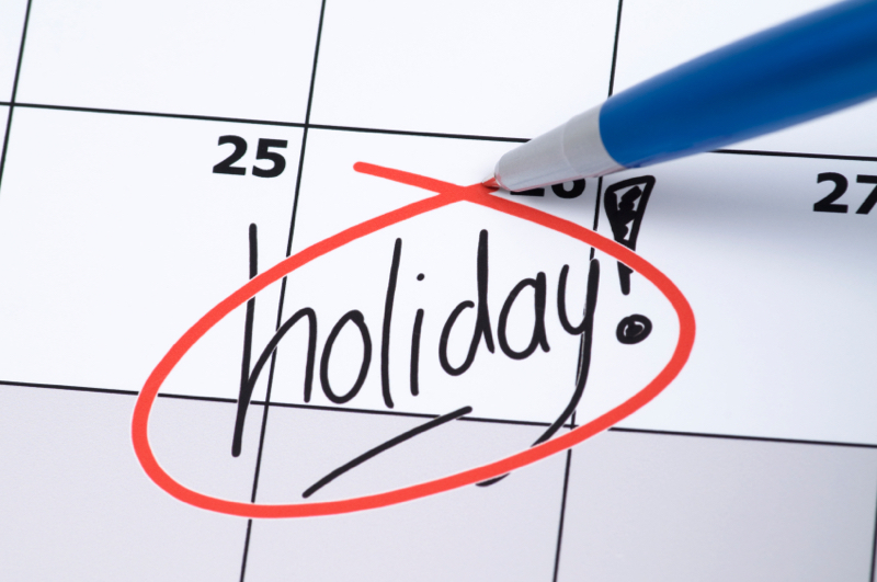 Annual Holidays